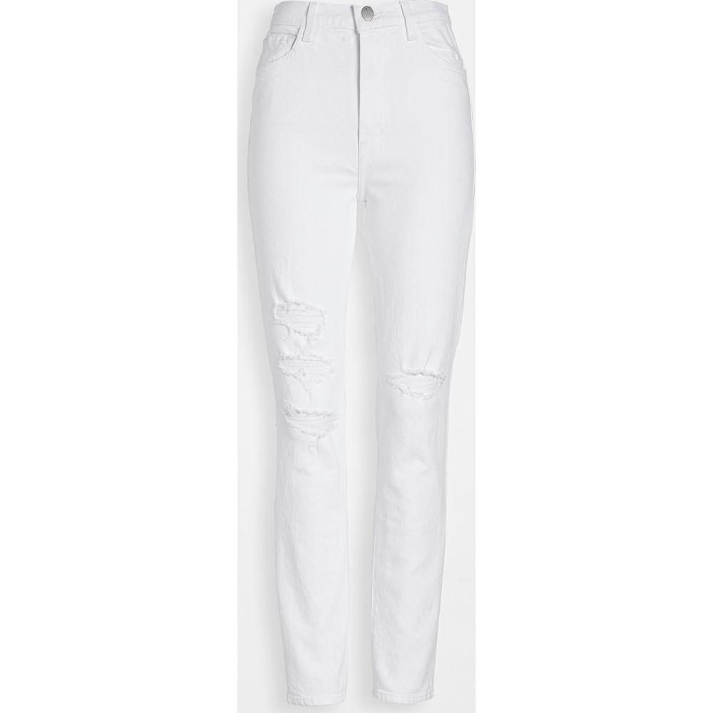 ジェイ ブランド J Brand レディース ジーンズ・デニム ボトムス・パンツ【1212 Runway High Rise Slim Straight Jeans】White Destruct