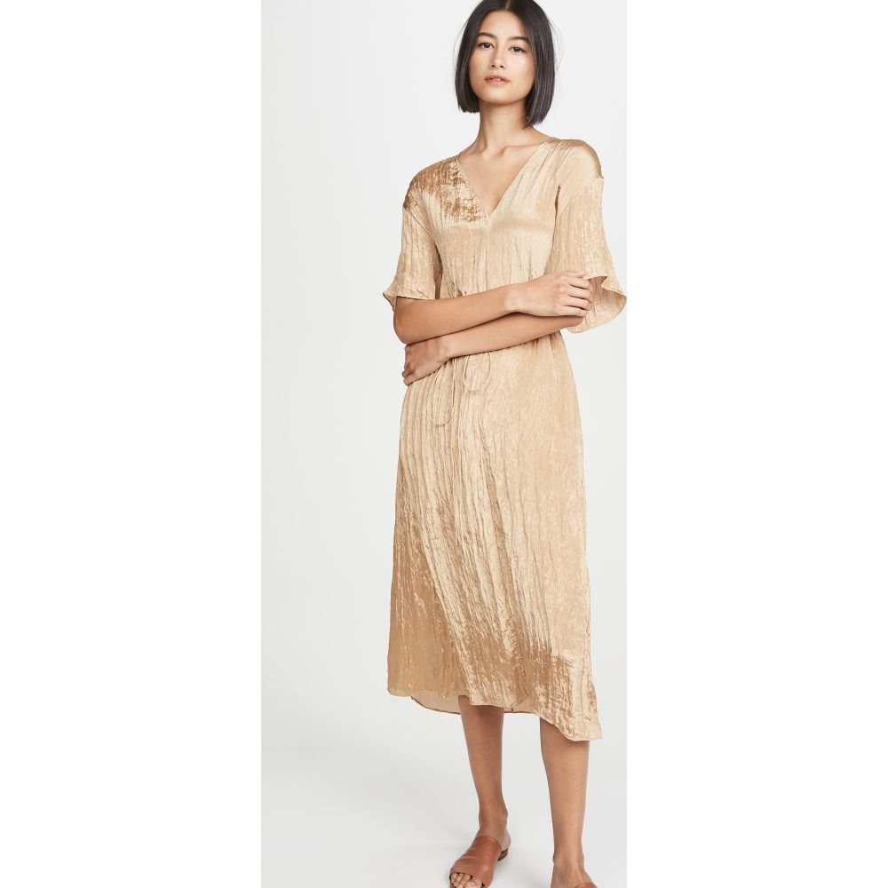 ヴィンス Vince レディース ワンピース Vネック ワンピース・ドレス【Textured V Neck Dress】Sun Khaki