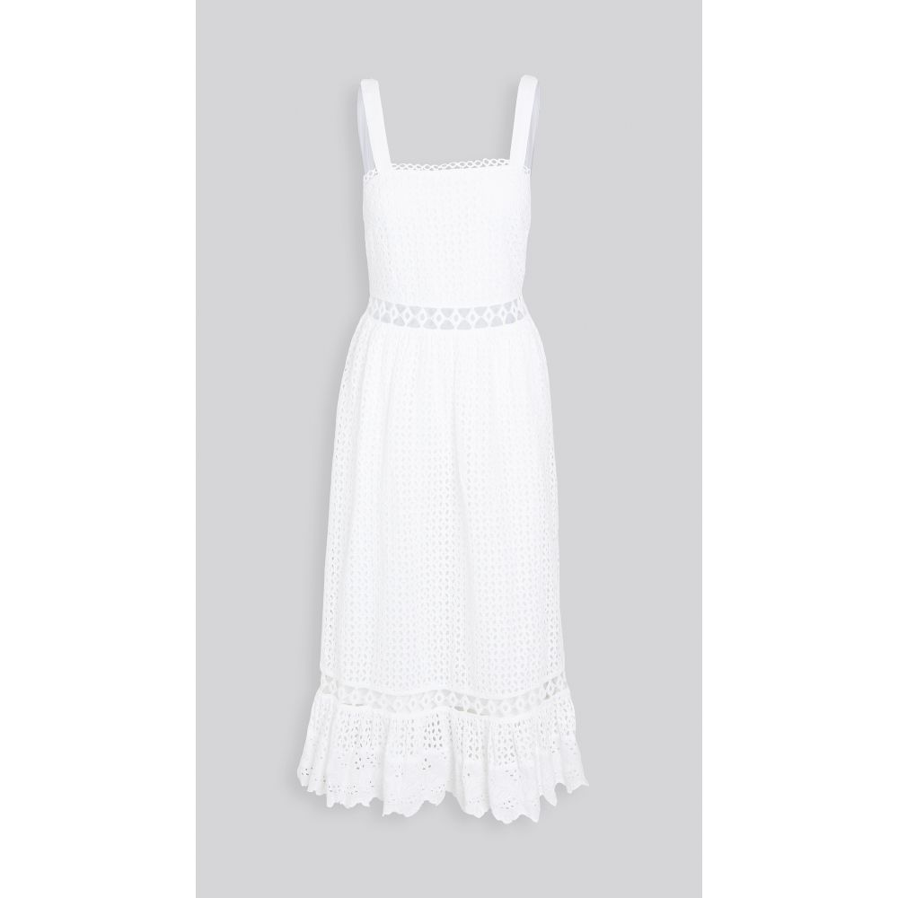 プレイスナショナル Place Nationale レディース ワンピース マキシ丈 ワンピース・ドレス【Le Gayan Eyelet Maxi Dress】White Eyelet