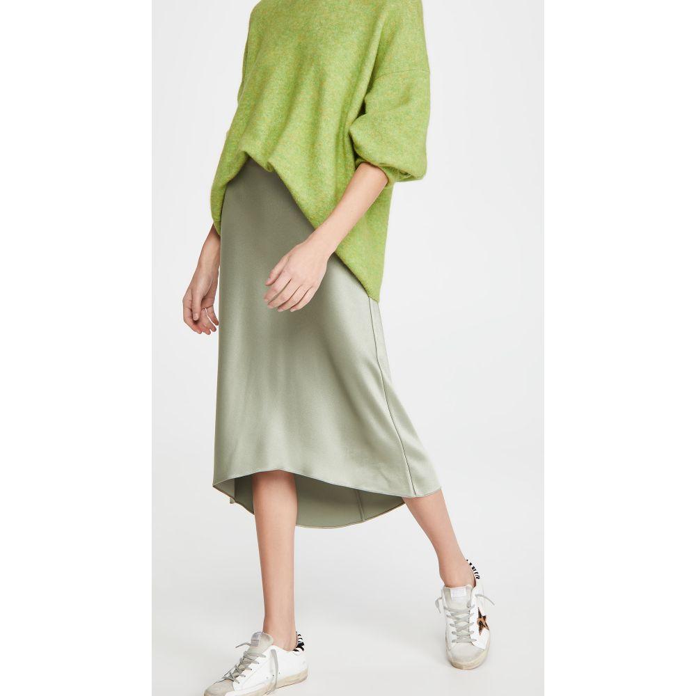 アリス アンド オリビア alice + olivia レディース スカート スリップスカート【Maeve High Low Slip Skirt】Sage