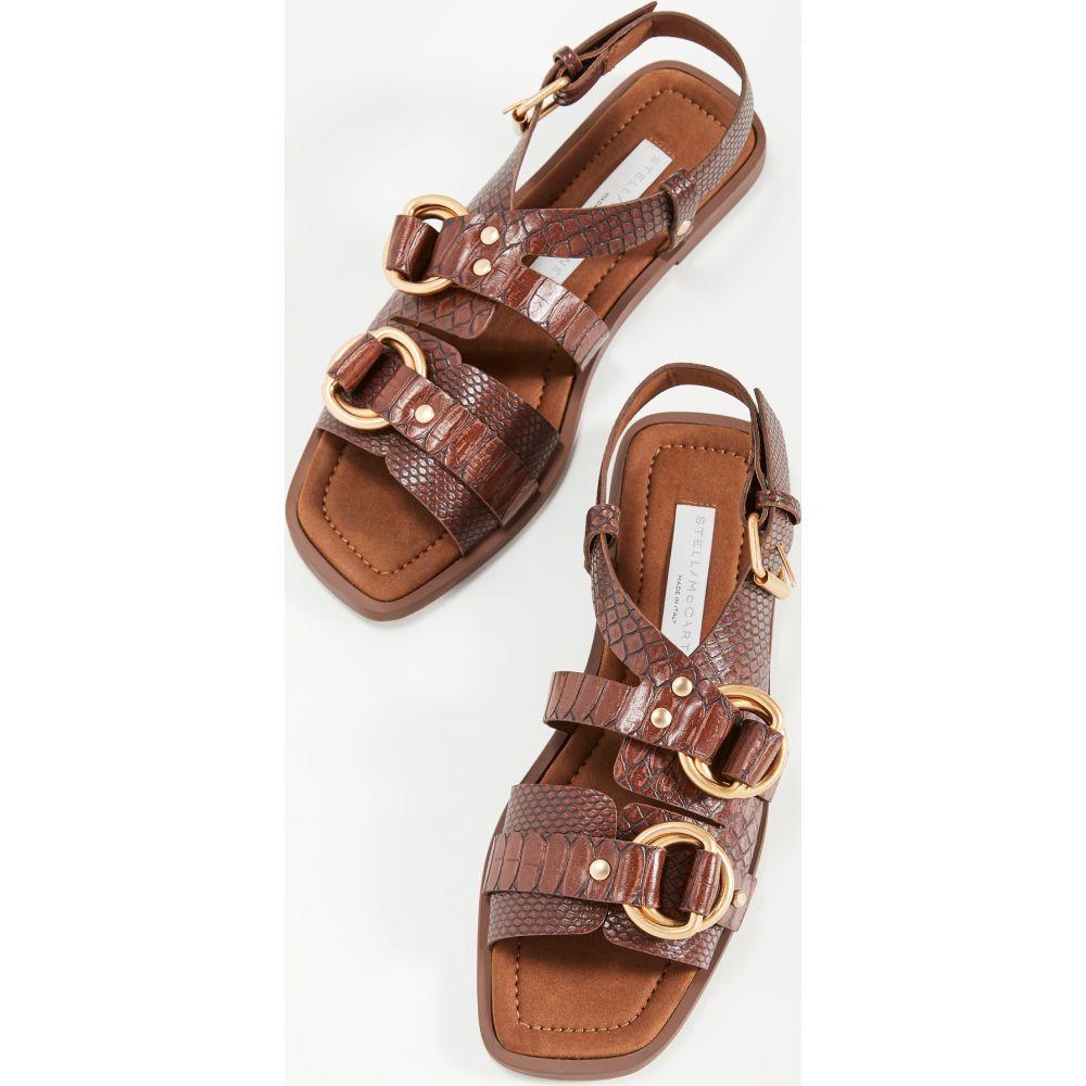 ステラ マッカートニー Stella McCartney レディース サンダル・ミュール フラット シューズ・靴【Flat Sandals】Pecan
