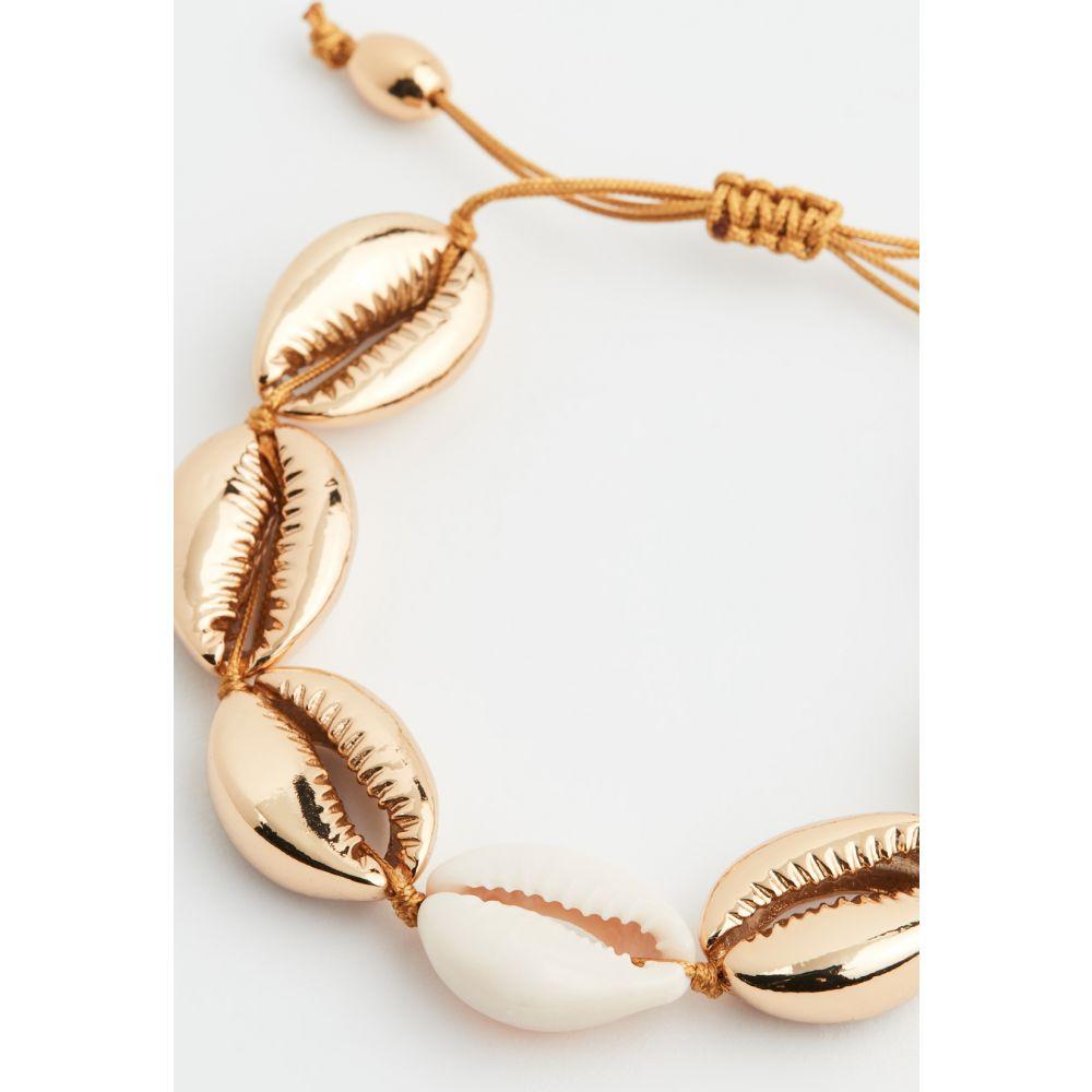 トフム Tohum レディース ブレスレット ジュエリー・アクセサリー【Large Puka Shell Bracelet】Gold