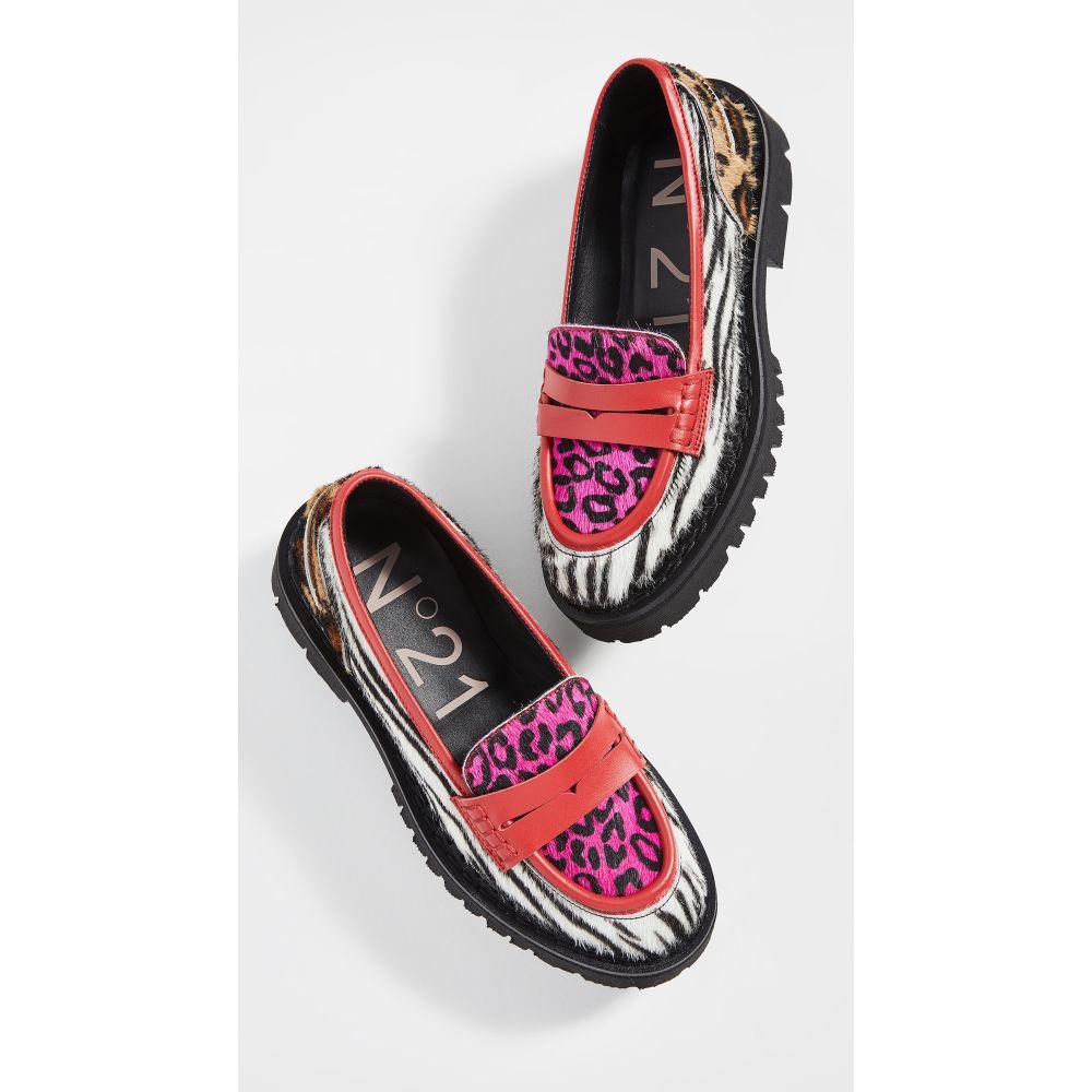 ヌメロ ヴェントゥーノ No. 21 レディース ローファー・オックスフォード シューズ・靴【Mixed Print Loafers】Multi