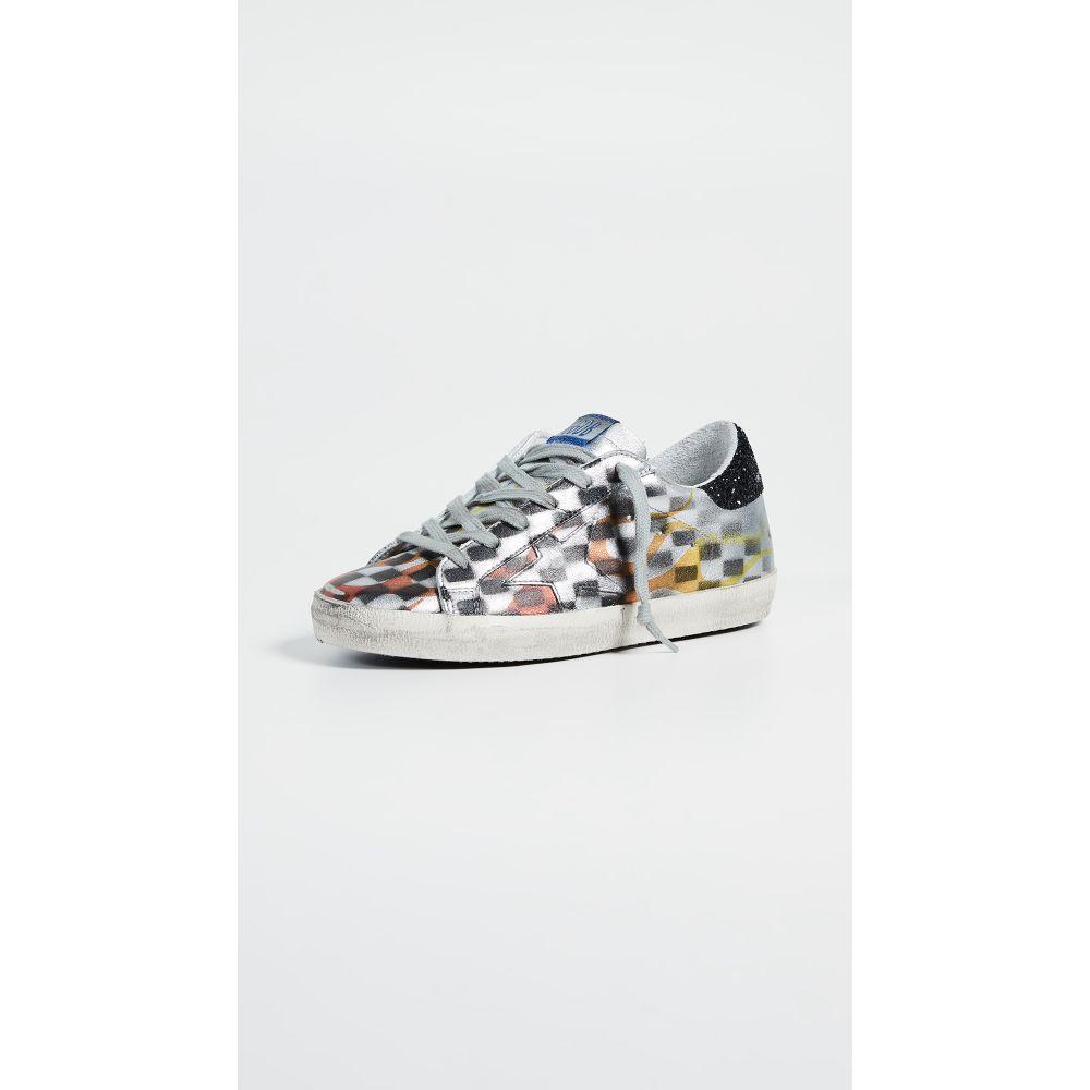 <title>ゴールデン グース レディース シューズ 靴 スニーカー サイズ交換無料 Golden Goose Superstar Sneakers 安い 激安 プチプラ 高品質 Silver Black Check</title>