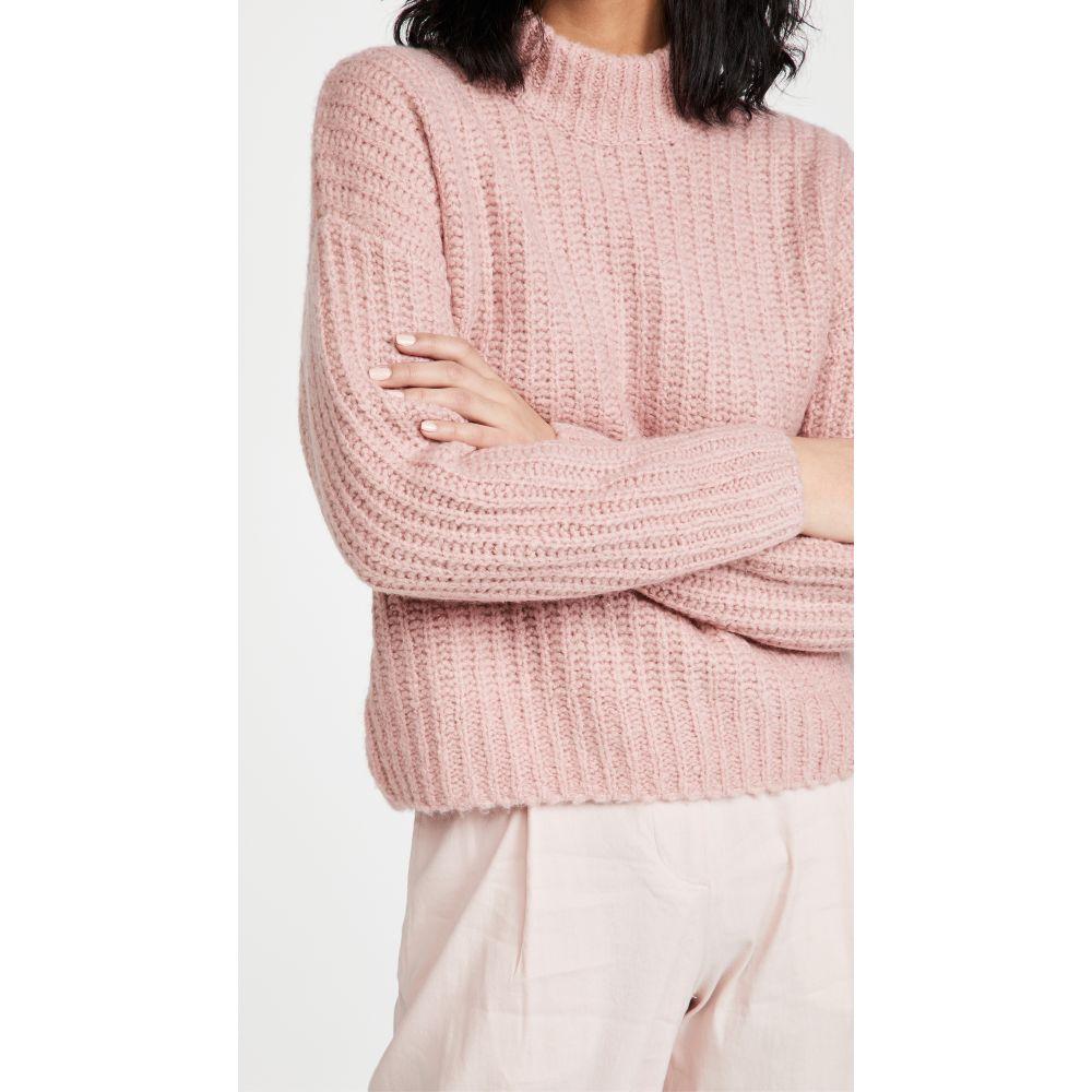 Pink Chunky Mock ナーダム Naadam トップス【Ribbed Neck ニット・セーター レディース Sweater】Light