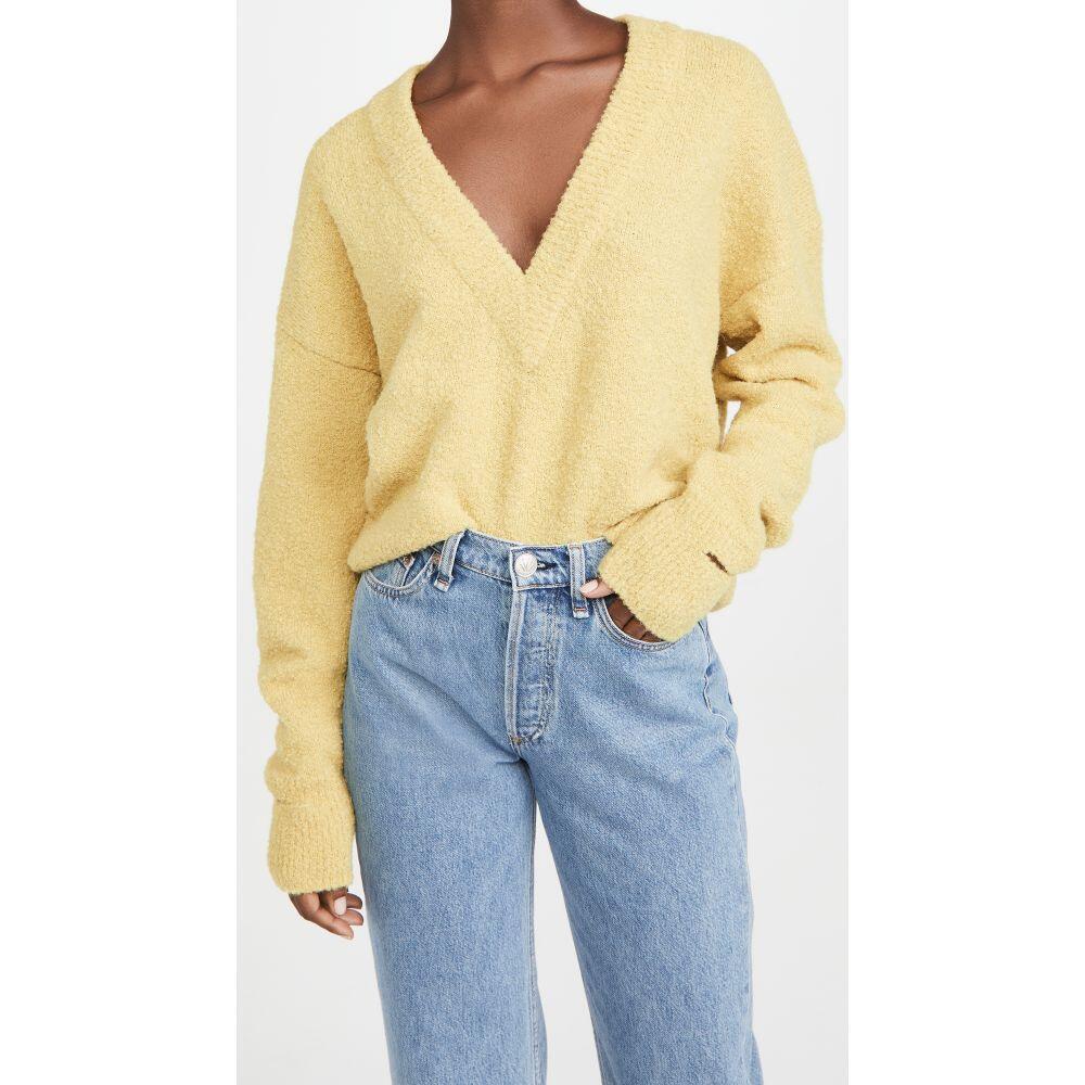 <title>ティビ レディース トップス ベアトップ チューブトップ ☆正規品新品未使用品 クロップド サイズ交換無料 Tibi Vネック Slit Cuffs V Neck Cropped Alpaca Pullover Light Yellow</title>