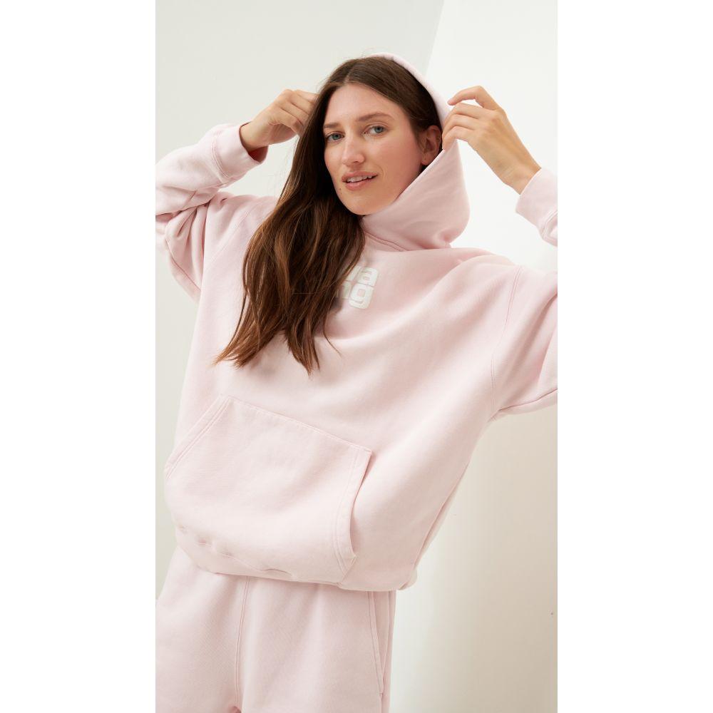 <title>アレキサンダー お値打ち価格で ワン レディース トップス パーカー サイズ交換無料 Alexander Wang Garment Washed Hoodie With Puff Print Primrose Pink</title>