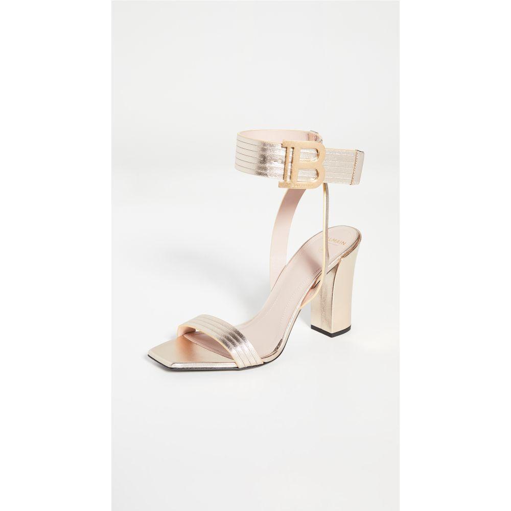 最も  バルマン Sandals】Gold Balmain レディース 95mm サンダル・ミュール シューズ・靴 Balmain【Stella 95mm Sandals】Gold, 今井書店:dcdfc79f --- hafnerhickswedding.net
