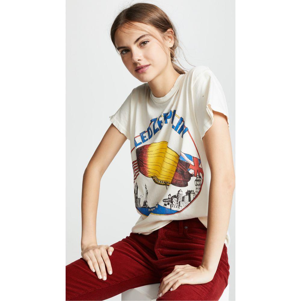 メイド ウォーン レディース トップス Tシャツ 通販 激安 サイズ交換無料 White ROCK MADEWORN 人気海外一番 Led Tee Zeppelin