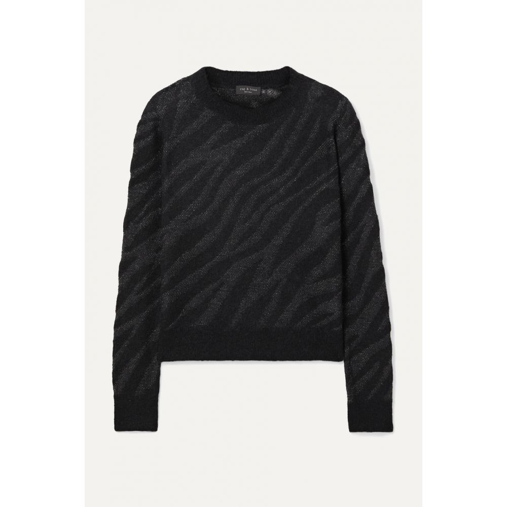 ラグ&ボーン rag & bone レディース ニット・セーター トップス【Germain metallic alpaca-blend jacquard-knit sweater】