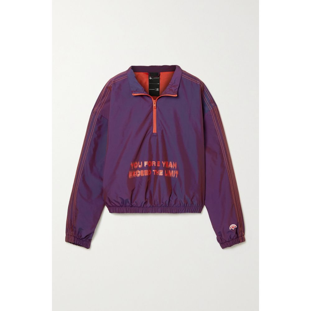 アディダス adidas Originals By Alexander Wang レディース ジャージ シェルジャケット アウター【Oversized embroidered printed shell track jacket】