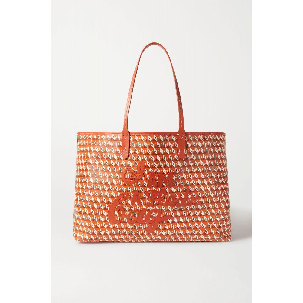 <title>アニヤ ハインドマーチ レディース バッグ トートバッグ サイズ交換無料 Anya Hindmarch net sustain i am a plastic 専門店 bag large leather-trimmed printed coated-canvas tote</title>