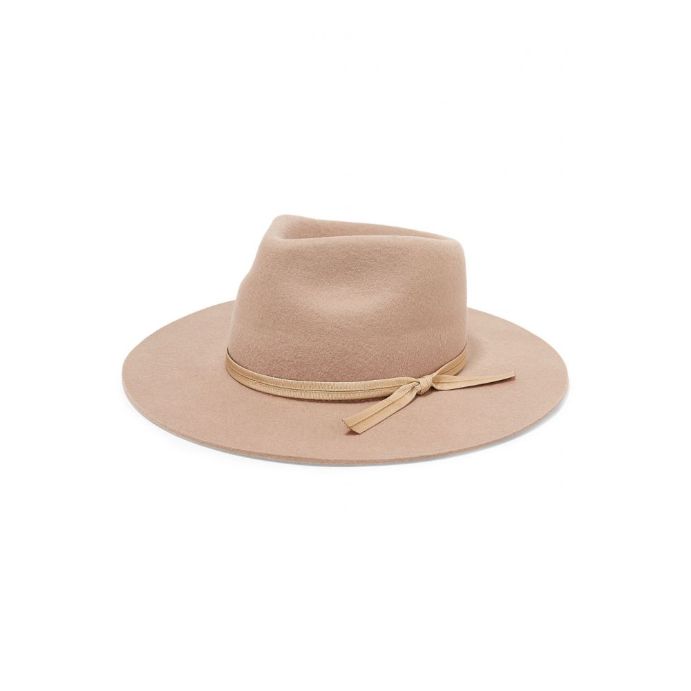 ラックオブカラー Lack of Color レディース 帽子 ハット【The Zulu grosgrain-trimmed wool-felt fedora】Sand