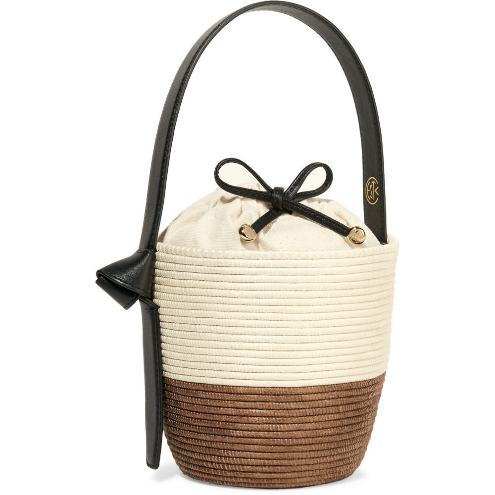 セスタ コレクティブ Cesta Collective レディース バッグ トートバッグ【Lunchpail leather-trimmed woven sisal bucket bag】Natural/ Camel
