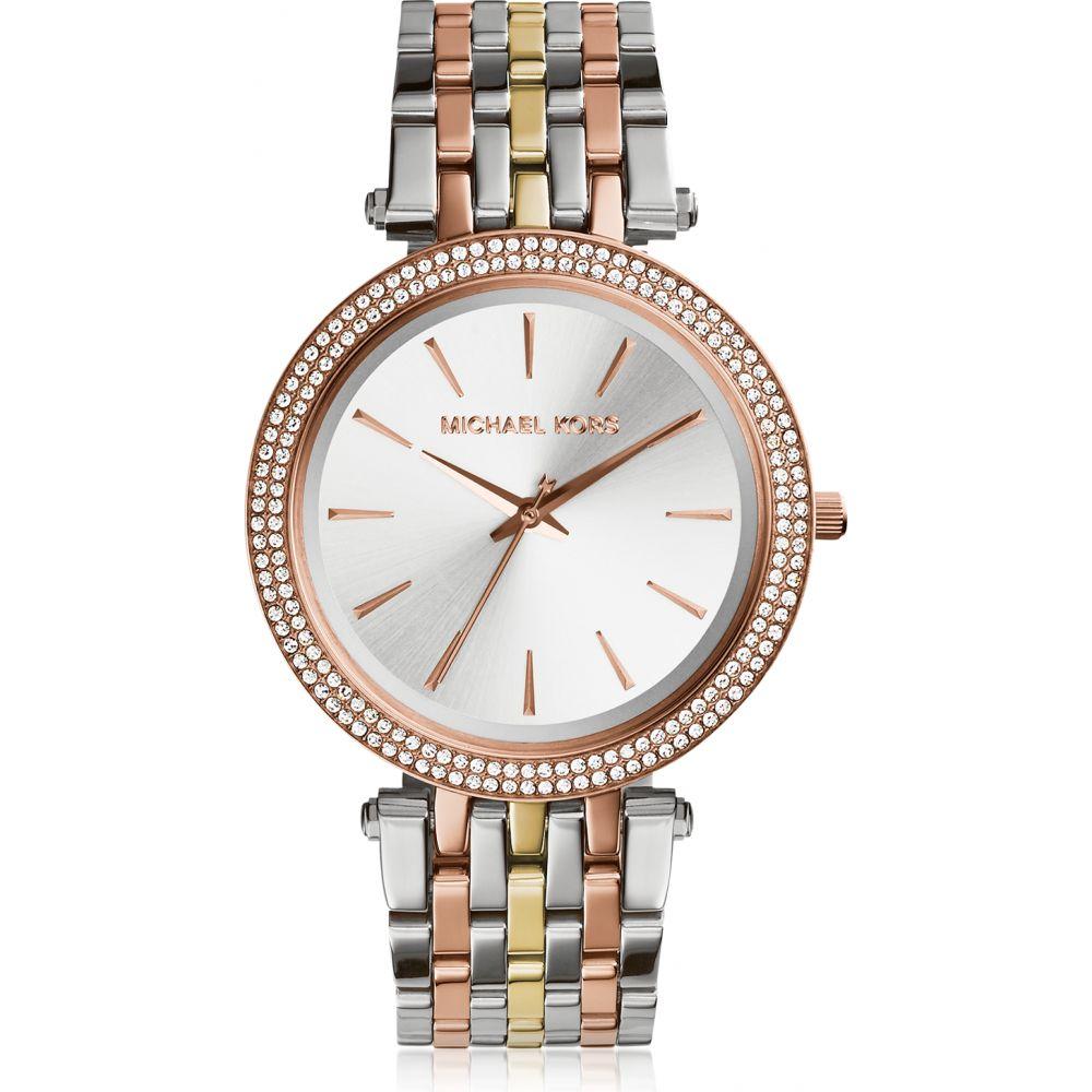 マイケル コース Michael Kors レディース 腕時計 【Darci Three Tone Stainless Steel Watch】Silver
