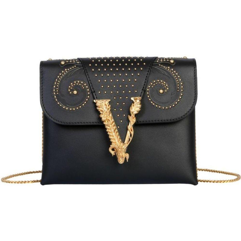 ヴェルサーチ Versace レディース ショルダーバッグ バッグ Virtus Shoulder Bag Black 一番売れた*** 金婚式 売れ行き好調 出産祝 ブライダル 新学期 成人の日
