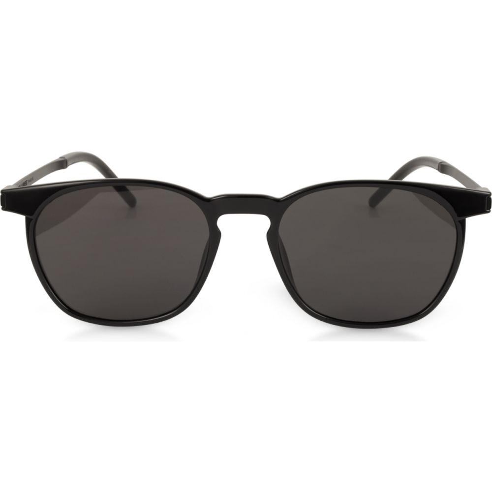 イヴ サンローラン Saint Laurent メンズ メガネ・サングラス 【SL 240 Acetate and Metal Squared Sunglasses】Black/Gray