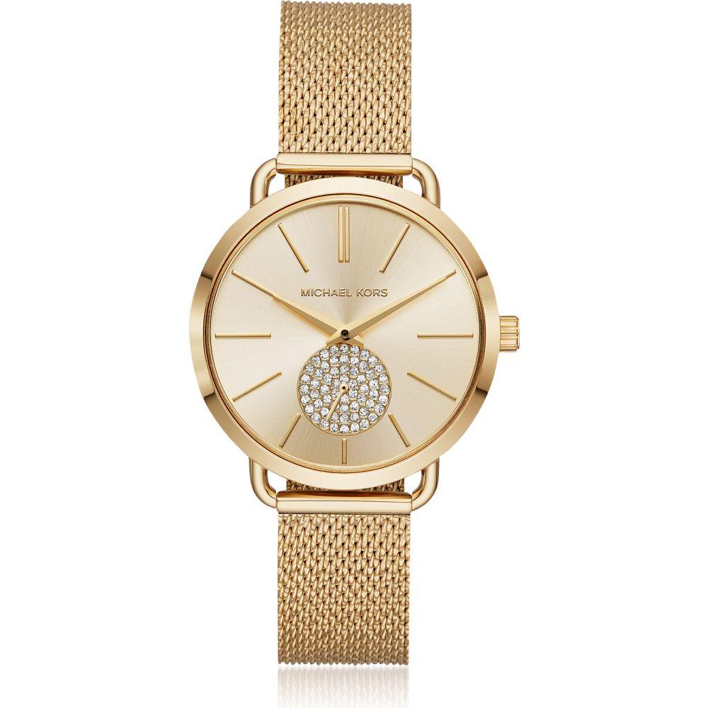 マイケル コース Michael Kors レディース 腕時計 【Portia Mesh Gold Tone Watch】Gold