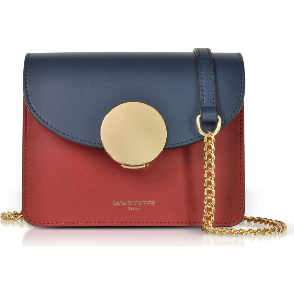 ル パルマンティエ Le Parmentier レディース ショルダーバッグ バッグ【New Ondina Mini Color Block Shoulder Bag】Navy Blue/Burgundy