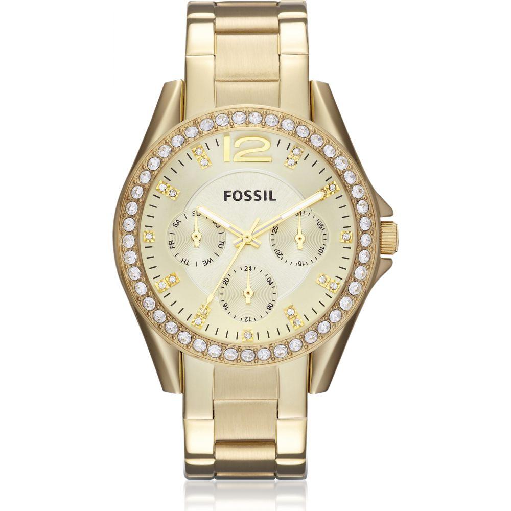 フォッシル Fossil レディース 腕時計 【Riley Multi-Function Gold Tone Watch】Gold