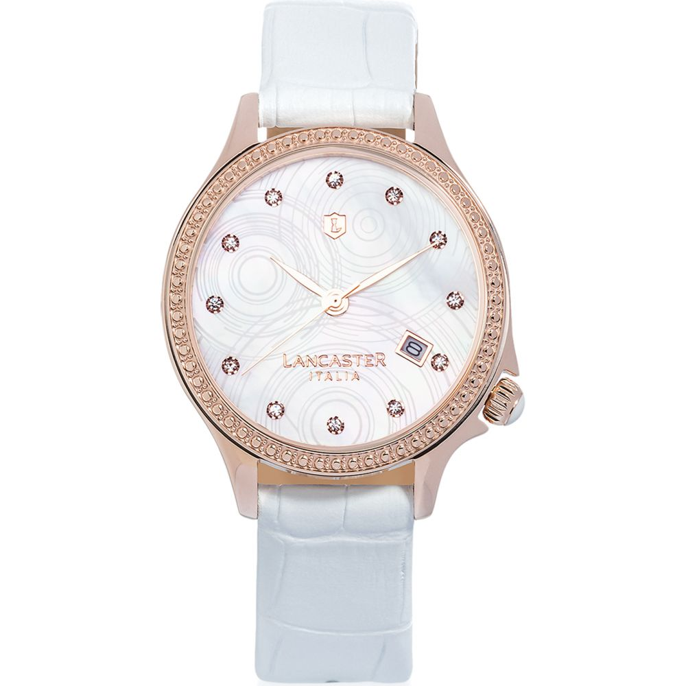 ランカスター Lancaster レディース 腕時計 【Goccia Rose Gold Stainless Steel Watch】White