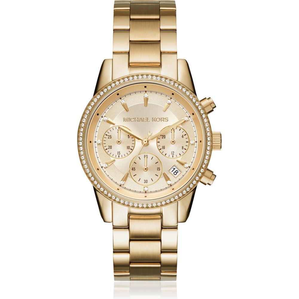 マイケル コース Michael Kors レディース 腕時計 【Ritz Pave Gold Tone Watch】Gold