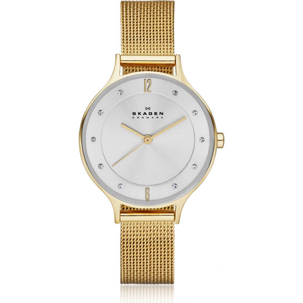スカーゲン Skagen レディース 腕時計 【Anita Gold-Tone Steel-Mesh Watch】Gold