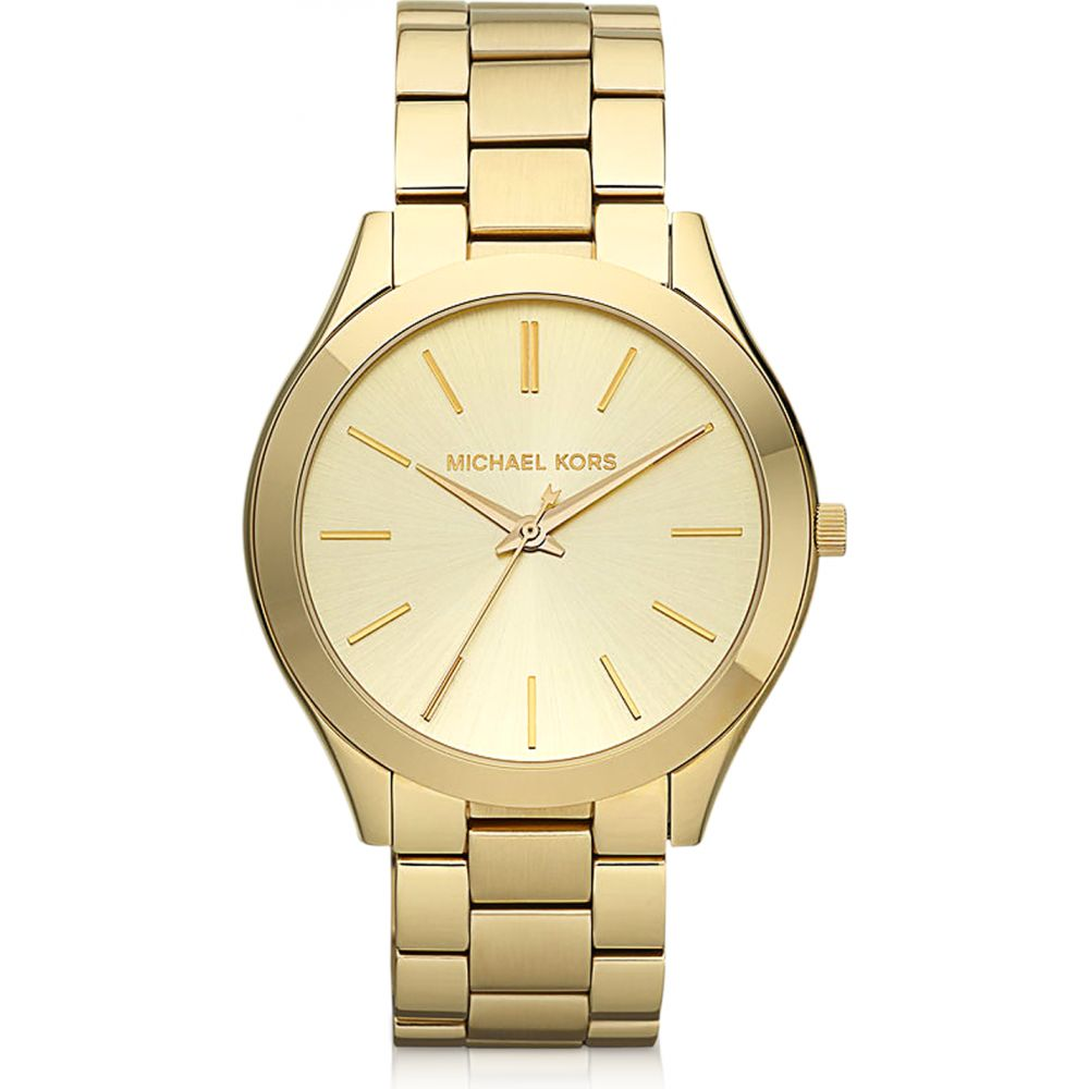 マイケル コース Michael Kors レディース 腕時計 【Runway Slim Gold Tone Watch】Gold