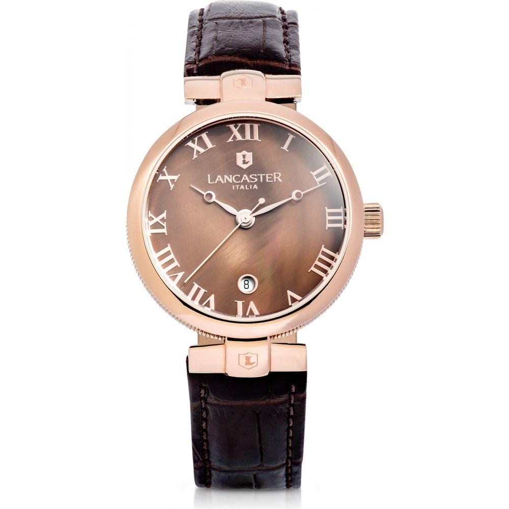 ランカスター Lancaster レディース 腕時計 【Chimaera Rose Gold Stainless Steel and Brown Croco Leather Watch】Brown