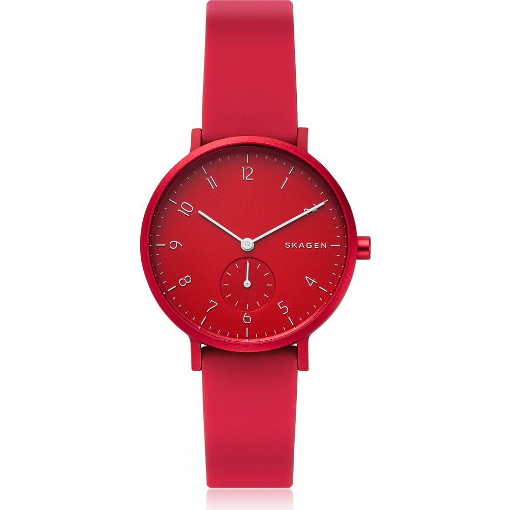 スカーゲン Skagen レディース 腕時計 【Aaren Kulor Red Silicone 36mm Watch】Red