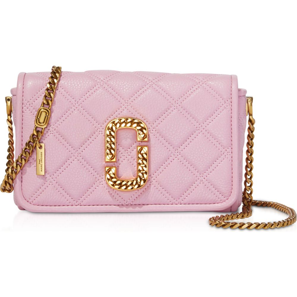 Marc マーク Flap Bag】Powder Jacobs ジェイコブス Status ショルダーバッグ バッグ【The Quilted レディース Leather Shoulder