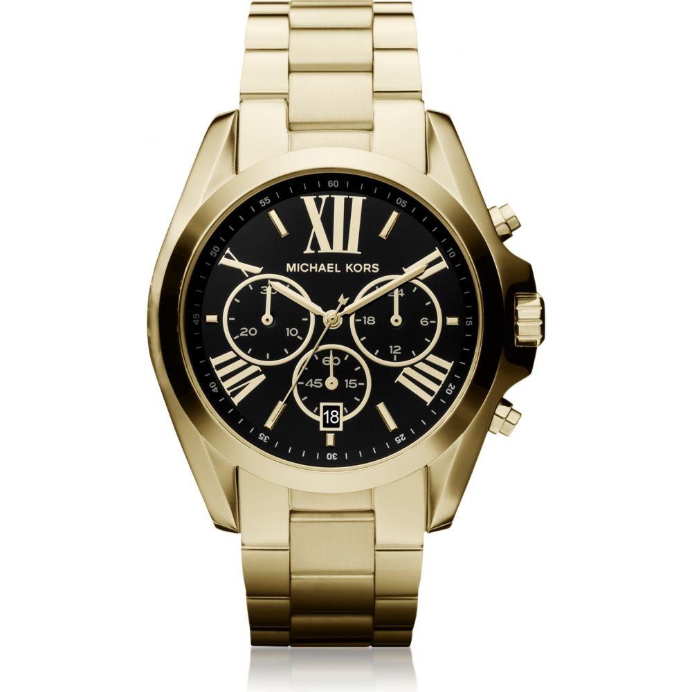 マイケル コース Michael Kors レディース 腕時計 クロノグラフ【Bradshaw Goldtone Stainless Steel Chronograph Watch】Gold