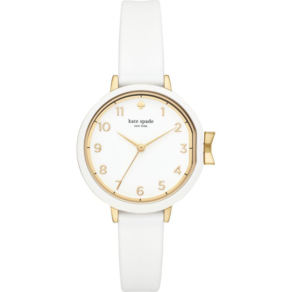 ケイト スペード Kate Spade New York レディース 腕時計 【White Park Row Silicone Watch】Gold