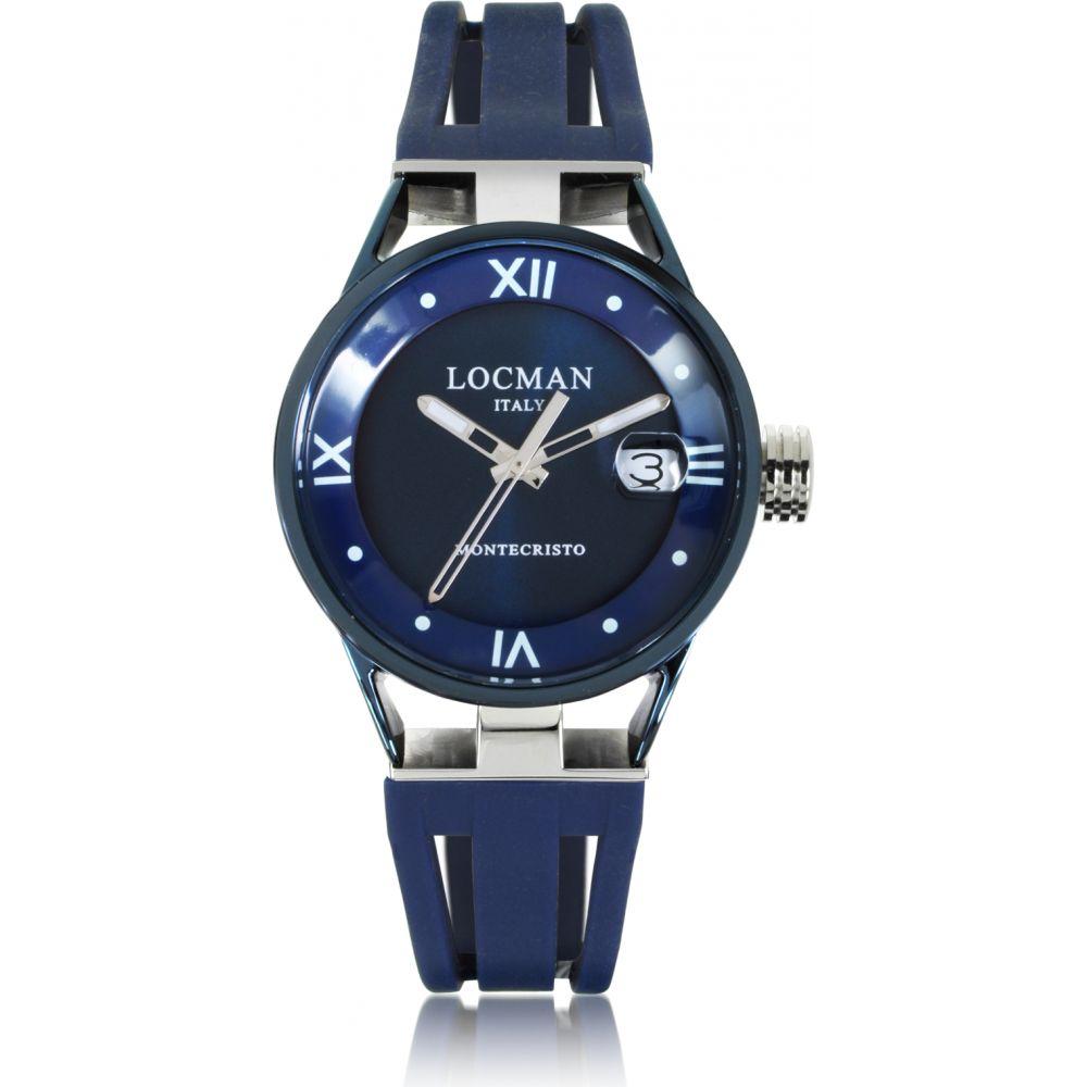 ロックマン Locman レディース 腕時計 【Montecristo Stainless Steel and Titanium Watch w/Silicone Strap】Blue