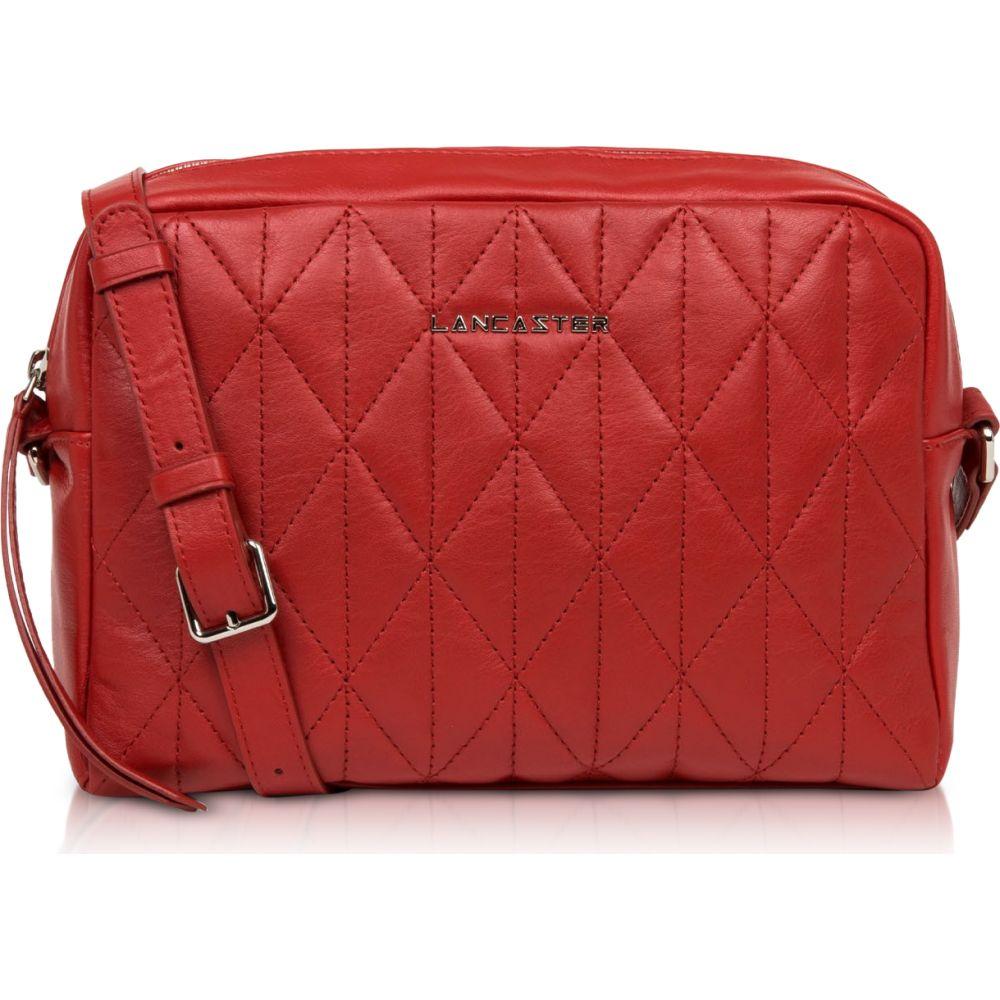 Matelasse Bag】Red Red Lancaster Large Shoulder Leather ショルダーバッグ バッグ【Parisienne Paris レディース ランカスター