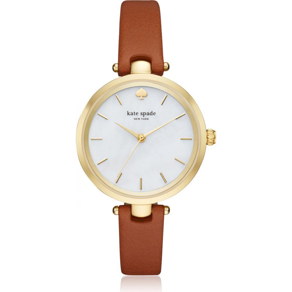 ケイト スペード Kate Spade New York レディース 腕時計 【Holland Luggage Skinny Strap Watch】Gold