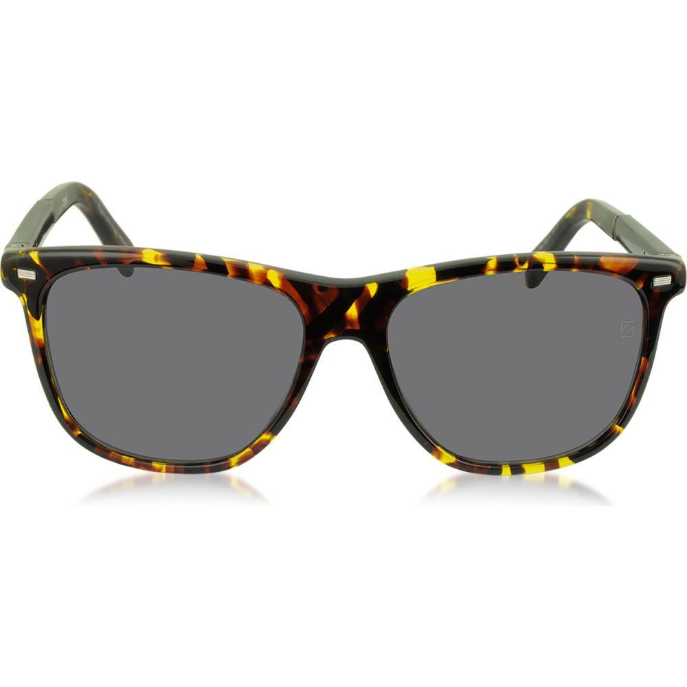 エルメネジルド ゼニア Ermenegildo Zegna メンズ メガネ・サングラス 【EZ0009 54A Yellow and Brown Acetate Sunglasses】yellow/brown/black