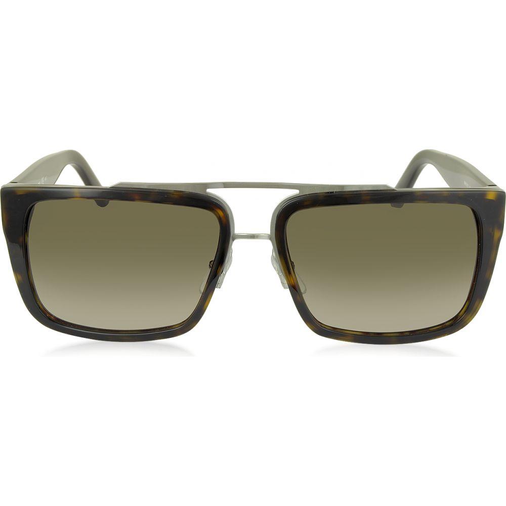 マーク ジェイコブス Marc Jacobs メンズ メガネ・サングラス アビエイター【MARC 57/S Acetate Rectangular Aviator Sunglasses】havana/brown