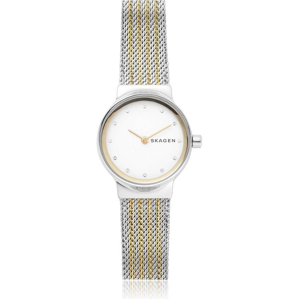 スカーゲン Skagen レディース 腕時計 【Freja Two-Tone Steel-Mesh Watch】Silver