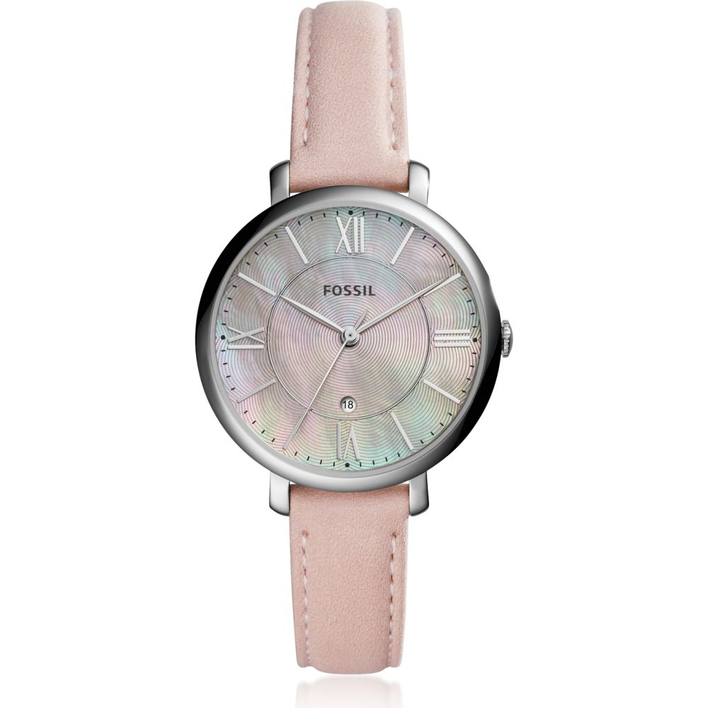 フォッシル Fossil レディース 腕時計 【Jacqueline Three-Hand Date Blush Watch】Silver