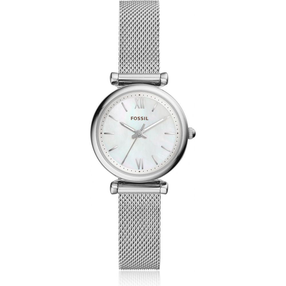 フォッシル Fossil レディース 腕時計 【Carlie Mini Three Hand Mesh Watch】Silver