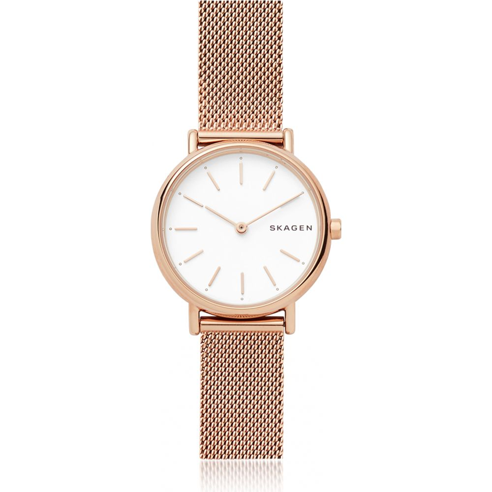 スカーゲン Skagen レディース 腕時計 【Signatur Slim Rose Gold-Tone Steel-Mesh Watch】Rose gold