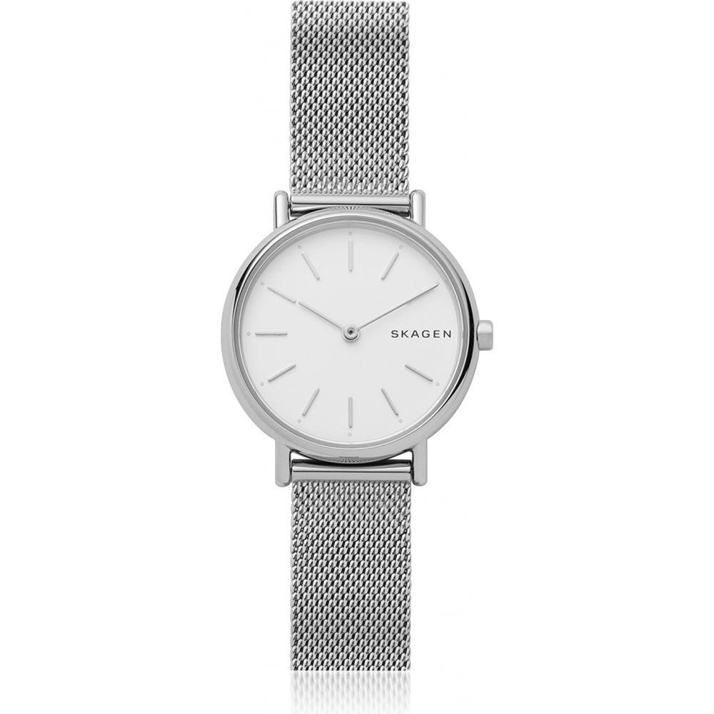 スカーゲン Skagen レディース 腕時計 【Signatur Slim Silver-Tone Steel-Mesh Watch】Silver