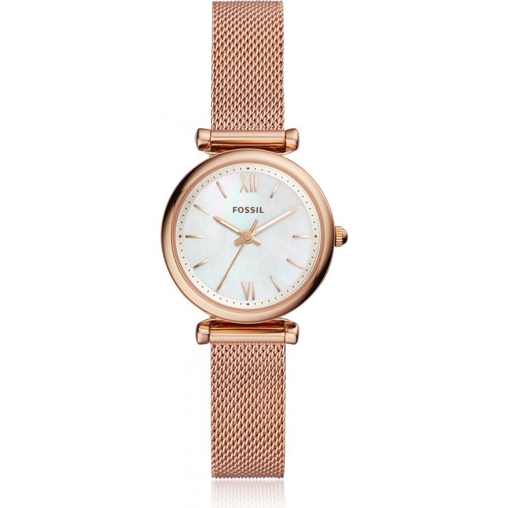 フォッシル Fossil レディース 腕時計 【Carlie Mini Three Hand Rose Gold Tone Mesh Watch】Rose gold