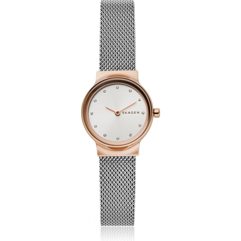 スカーゲン Skagen レディース 腕時計 【Freja Two-Tone Steel-Mesh Watch】Rose gold