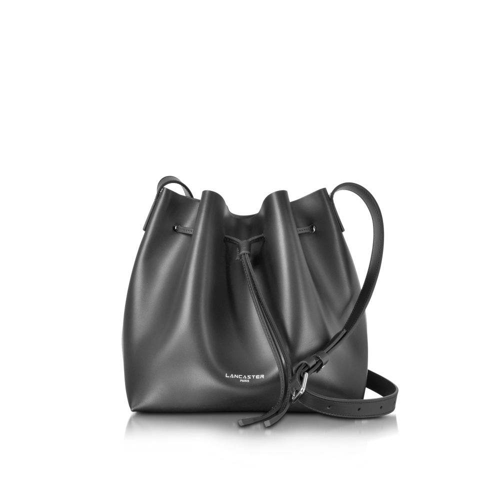 ランカスター Lancaster Paris レディース ショルダーバッグ バケットバッグ バッグ【Pur Smooth Leather Bucket Bag】Black