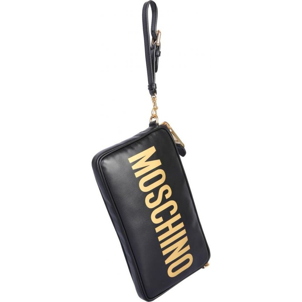 モスキーノ Moschino レディース ショルダーバッグ バッグ【Shoulder Bag With Logo】Black