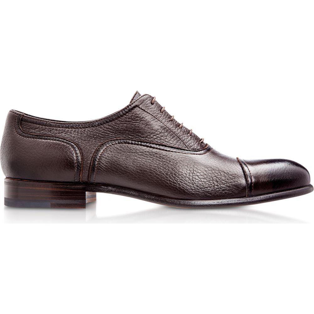 モレスキー Moreschi メンズ 革靴・ビジネスシューズ シューズ・靴【Nice Dark Brown Deerskin Oxford Shoes】Brown