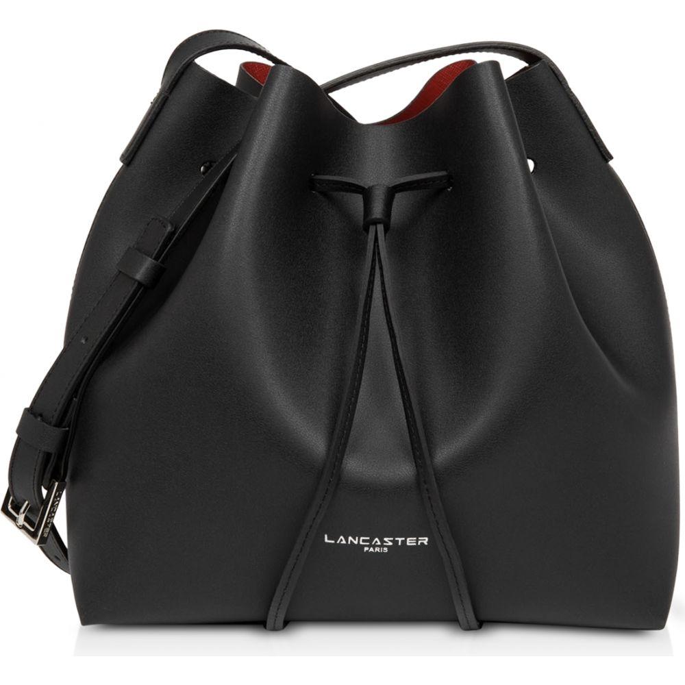 ランカスター Lancaster Paris レディース ショルダーバッグ バケットバッグ バッグ【Pur & Elements City Americanino Small Bucket Bag】black/red