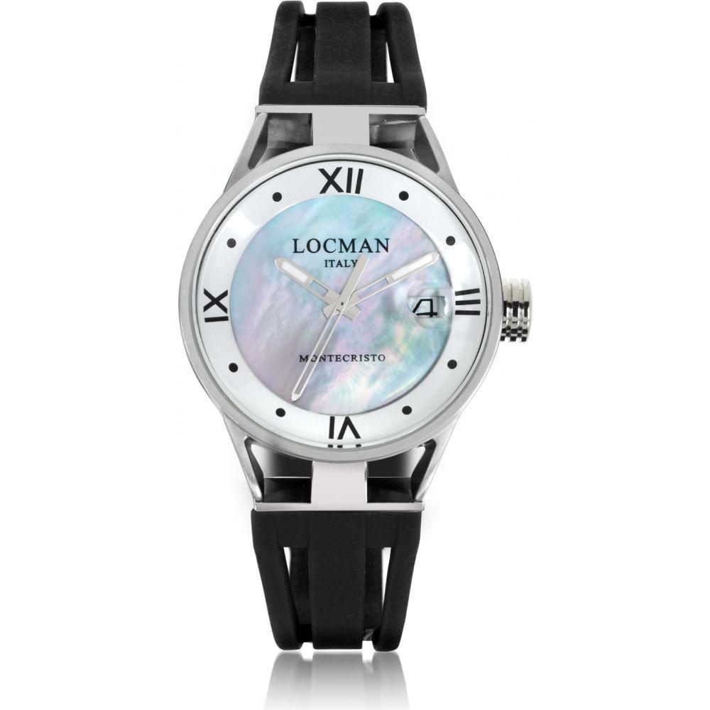 ロックマン Locman レディース 腕時計 【Montecristo Stainless Steel and Titanium Mother of Pearl w/Silicone Strap Watch】Black